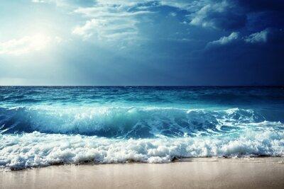 Adesivo Ondas na praia das Seychelles