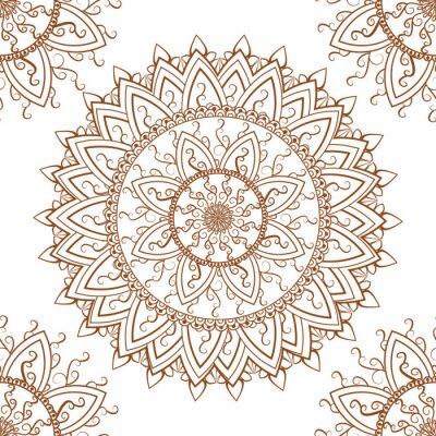 Adesivo Ornamento redondo padrão sem emenda