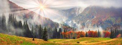 Adesivo Outono enevoado Transcarpathia