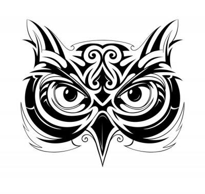Adesivo Owl cabeça tatuagem