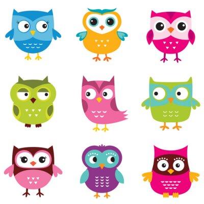 Adesivo Owls set