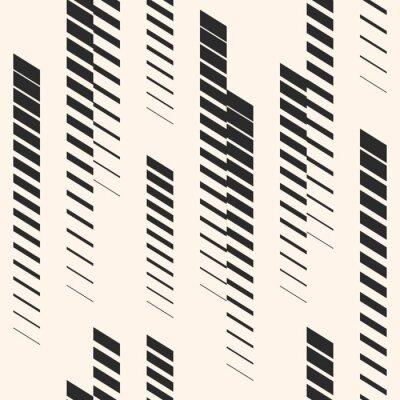 Adesivo Padrão abstrato abstrato gráfico com linhas verticais, faixas, faixas de meio-tom. Padrão esportivo. Padrão urbano.
