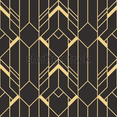 Adesivo Padrão de azulejos modernos de vetor. Fundo monocromático sem costura arte deco abstrata