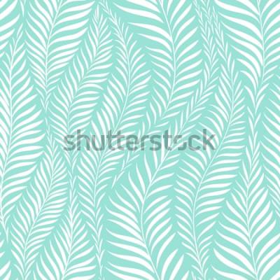Adesivo Padrão de folha de palmeira. Ilustração vetorial Elemento de decoração