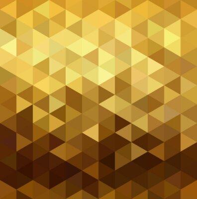 Adesivo Padrão de ouro baixo triangulo poli geometria fantasia