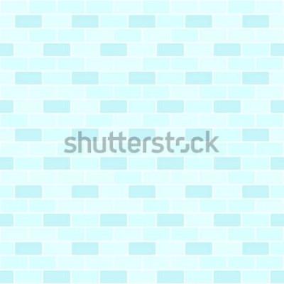 Adesivo Padrão de parede de tijolo ciano. Fundo de tijolo sem costura vector
