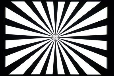 Adesivo Padrão de teste preto e branco