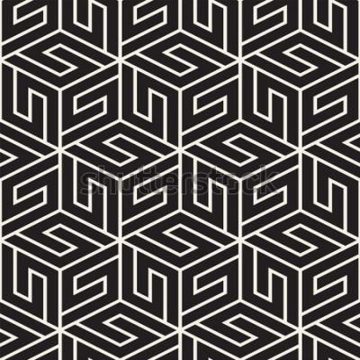 Adesivo Padrão de treliça sem emenda de vetor. Textura elegante moderna com treliça monocromática. Repetindo a grade geométrica. Fundo design simples.