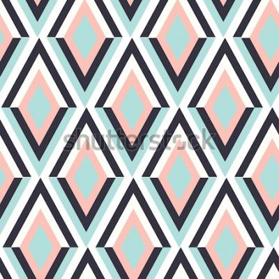 Adesivo padrão de vetor de zig zag de geometria. ornamento sem costura étnica. Fundo abstrato - linhas coloridas. Ilustração vetorial