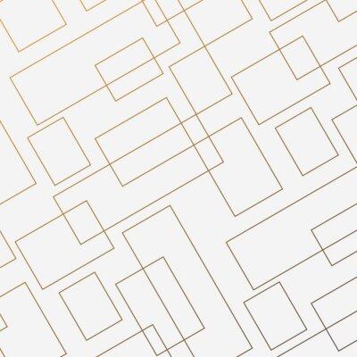 Adesivo Padrão de vetor geométrico, repetindo a forma de losango quadrado linear fino e retângulo. Design limpo para papel de parede de tecido pintado. O padrão está no painel de amostras
