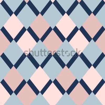 Adesivo padrão geométrico de losangos. padrão geométrico. ornamento sem costura étnica. Fundo abstrato - linhas coloridas. Ilustração vetorial