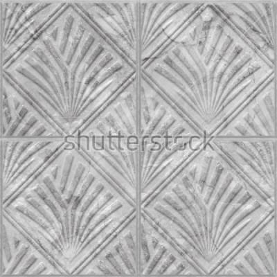Adesivo Padrão geométrico na telha cerâmica e mármore textura sem alteração, ilustração 3d