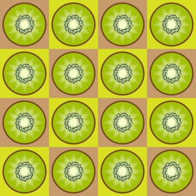 Adesivo Padrão kiwi Seamless