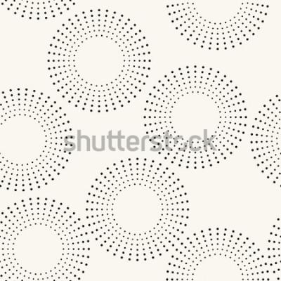 Adesivo Padrão sem emenda com círculos pontilhados. Vector repetindo a textura. Fundo elegante
