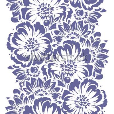 Adesivo Padrão sem emenda de elegância abstrata com fundo floral