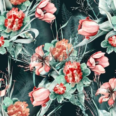 Adesivo Padrão sem emenda de primavera