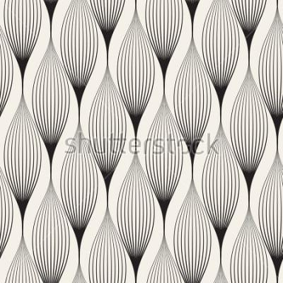 Adesivo Padrão sem emenda de vetor. Fundo elegante abstrato com pétalas estilizadas