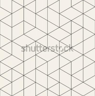 Adesivo Padrão sem emenda de vetor. Textura elegante moderna com treliça monocromática. Repetindo a grade triangular geométrica. Design gráfico simples. Geometria sagrada moda hipster.