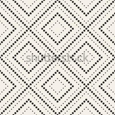 Adesivo Padrão sem emenda de vetor. Textura elegante moderna. Repetindo azulejos geométricos com losango pontilhado