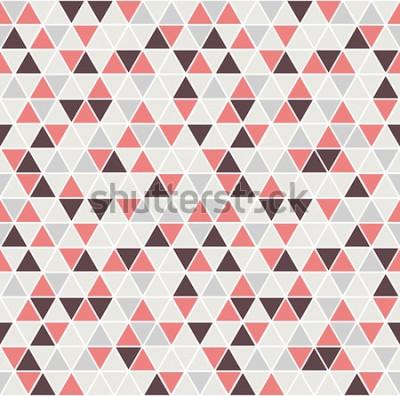 Adesivo Padrão sem emenda do triângulo. Vetor de fundo. Textura abstrata geométrica