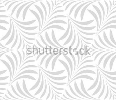 Adesivo Padrão sem emenda Fundo elegante floral. Ornamento cinzento e branco. Padrão moderno gráfico.