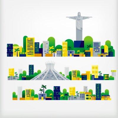 Adesivo paisagem do Brasil