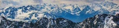 Adesivo paisagem do inverno dos Alpes panorama montanha