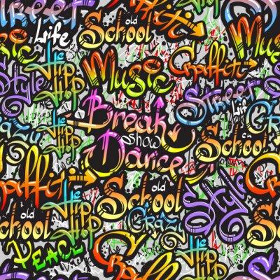 Adesivo Palavra Graffiti seamless