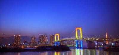 Adesivo Panaroma Of Iluminado Tóquio