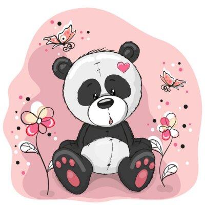 Adesivo Panda com flores