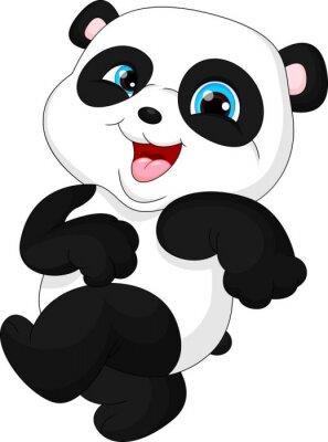 Adesivo Panda engraçada bonito do bebê