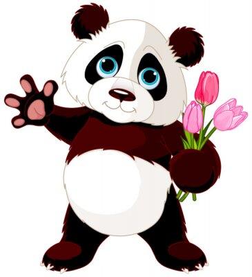 Adesivo Panda feliz