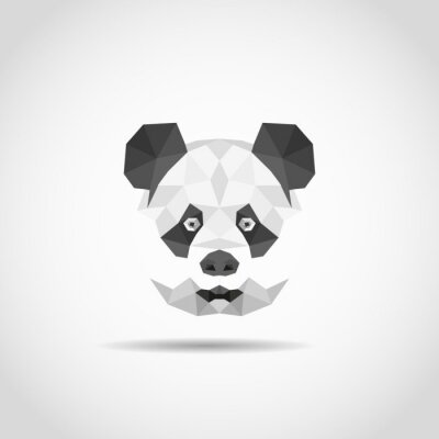 Adesivo Panda moderna em estilo poligonal