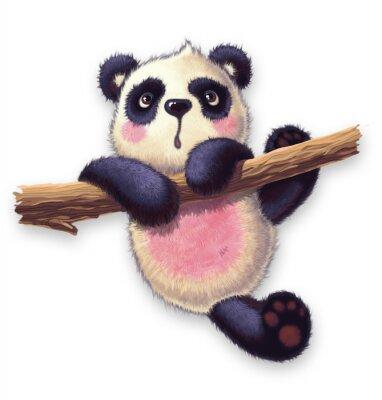Adesivo panda peludo