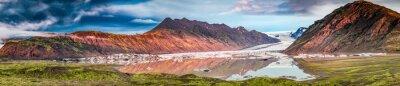 Adesivo Panorama, bonito, geleira, lago, amanhecer, islândia