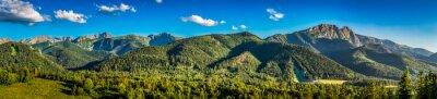 Adesivo Panorama, pôr do sol, tatra, montanhas, zakopane, polônia