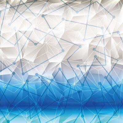 Adesivo Papel de parede ou fundo da geometria