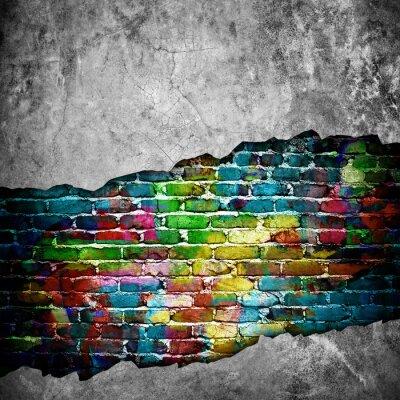 Adesivo parede de tijolo rachado