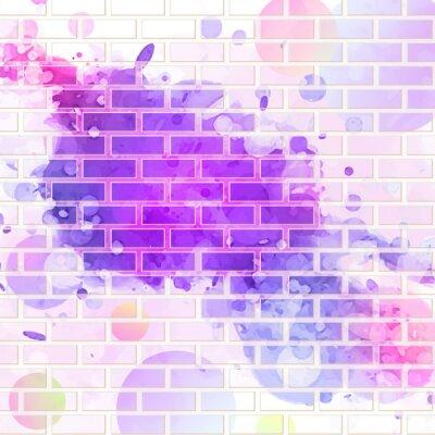 Adesivo parede de tijolos, grafites