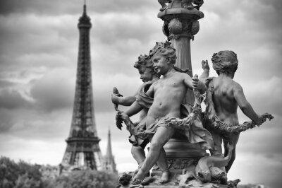 Adesivo Paris França Torre Eiffel com estátuas de querubins