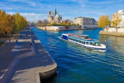 Adesivo Paris, la seine e Notre-Dame vu du pont de la Tournelle