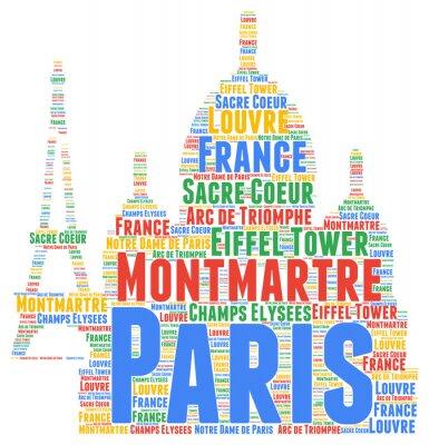 Adesivo Paris nuvem de palavra