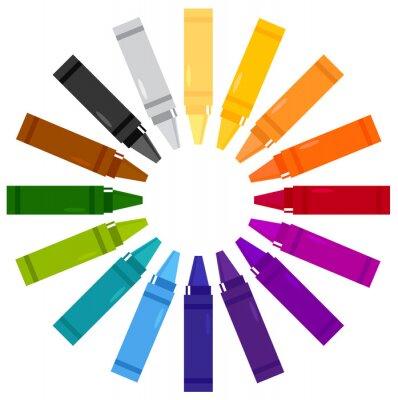 Adesivo Pastéis coloridos no círculo isolado no branco