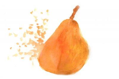 Adesivo Pear na aguarela.