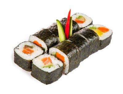 Adesivo Peças de sushi deliciosos