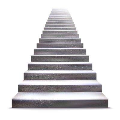 Adesivo Pedra realista ilustração escada vector