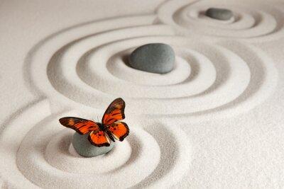 Adesivo Pedras zen com borboleta