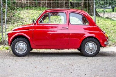 Adesivo pequeno carro / carro vermelho pequeno