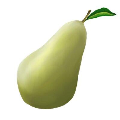 Adesivo Pera verde em um fundo branco