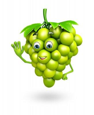 Adesivo Personagem de banda desenhada de uvas